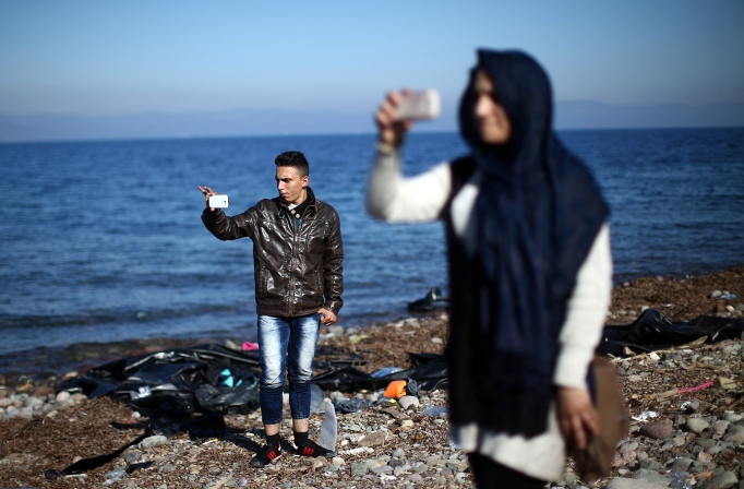 Migrants On Greece's Lesbos Island
